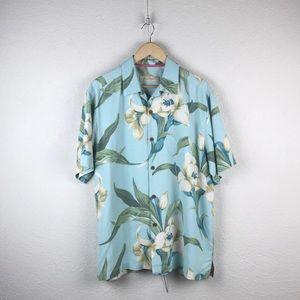 Tommy Bahama l Silk Floral Hawaiian Tiki Shirt